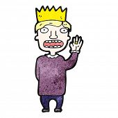 cartoon prince swearing oath