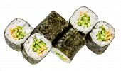 Kappa maki roll. Sushi Roll on a white background