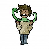 cartoon snake strangling man