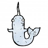 funny cartoon narwhal