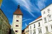 die alte und schöne Stadt Wels in Oberösterreich, Österreich.