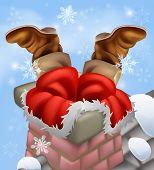 Preso em uma chaminé de Santa