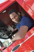 Condução em caminhão de bombeiros