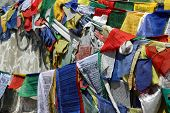 Buddhist Praying Flag From Rothang Pass