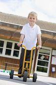 Children Playing In School Playground