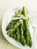 Chargrilled Asparagus Spears With Parmesan Cheese Shaves