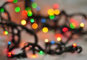 Abstract Festive Background, Christmas Lights In Bright Colors