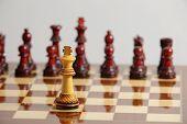 Chess King Alone In Danger