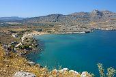 Seaside landscape in Rodos / Agathi
