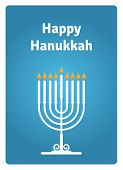 Hanukkah Card Candle