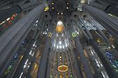 Interior Of Church Sagrada Familia