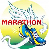 The emblem of the marathon