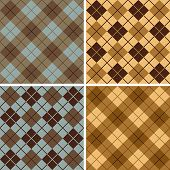 Argyle-plaid Pattern_blue-taupe-gold