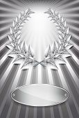 Silver Award Laurel Wreath And Label