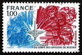 Postage Stamp France 1976 Officers Reserve Corps