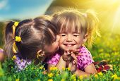 image of little young child children girl toddler  - happy family - JPG