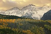 pic of mear  - Mount Sneffels Range with fall color, Colorado, USA