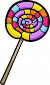 picture of lollipop  - Cartoon Illustration of Sweet Lollipop Clip Art - JPG