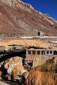 foto of aconcagua  - puente del inca in mendoza province of argentina - JPG