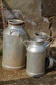 Old Milk Churns
