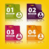Set Of Elements For Infographics In The Form Of Cards