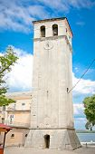Clock tower of Cathedral  Assumption  the Blessed Virgin Mary in Pula, Croatia