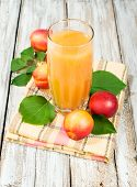 Peach Juice And Fresh Nectarines