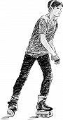 Teen On Roller Skate.eps