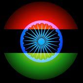 indian flag background design illustration
