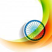 stylish indian flag wave background
