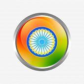 vector indian flag label design