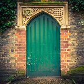 Old door in Cambridge, UK