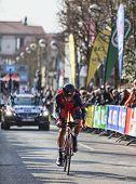 The Cyclist Oss Daniel- Paris Nice 2013 Prologue In Houilles