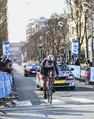 The Cyclist Irizar Markel- Paris Nice 2013 Prologue In Houilles