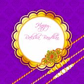 pic of rakhi  - vector illustration of decorated rakhi for Raksha Bandhan - JPG