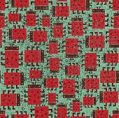 Seamless pattern with ladybird.