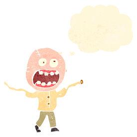 image of madman  - retro cartoon crazy madman - JPG