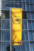 Lufthansa Flag With Lufthansa Symbol, The Crane