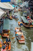Bangkok, Thailand - December 30, 2013: Amphawa bangkok floating market at Bangkok, Thailand on decem
