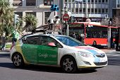 VALENCIA, SPAIN - JANUARY 27, 2014: A Google Street View vehicle used for mapping streets throughout