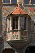 Medieval Balcony In Stein Am Rhein, Switzerland.
