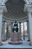 Rossi Pavilion at Winter in Pavlovsky Park