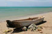 Colombia, Fishing Boat In La Guajira