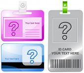 Query. Vector id cards.