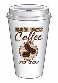 Coffee To Go Cup Design Fresh Roast Coffee