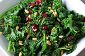 Kale With Pine Nuts And Cranberries