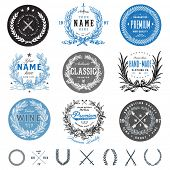 Vector vintage badge set. Great for logos and labels.