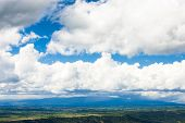 clouds over landscape of Alpes de Haute Provence, France