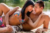 Beach Couple In Love