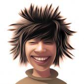 Boy With A Wild Hair Style
